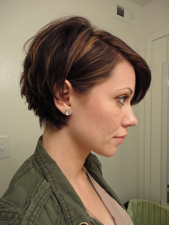 Sporty chopped up short hairs