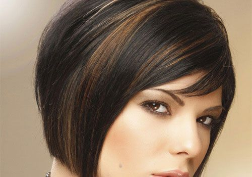 Highlighted Hair Styles: Short Length Hair Highlights With Caramel Color
