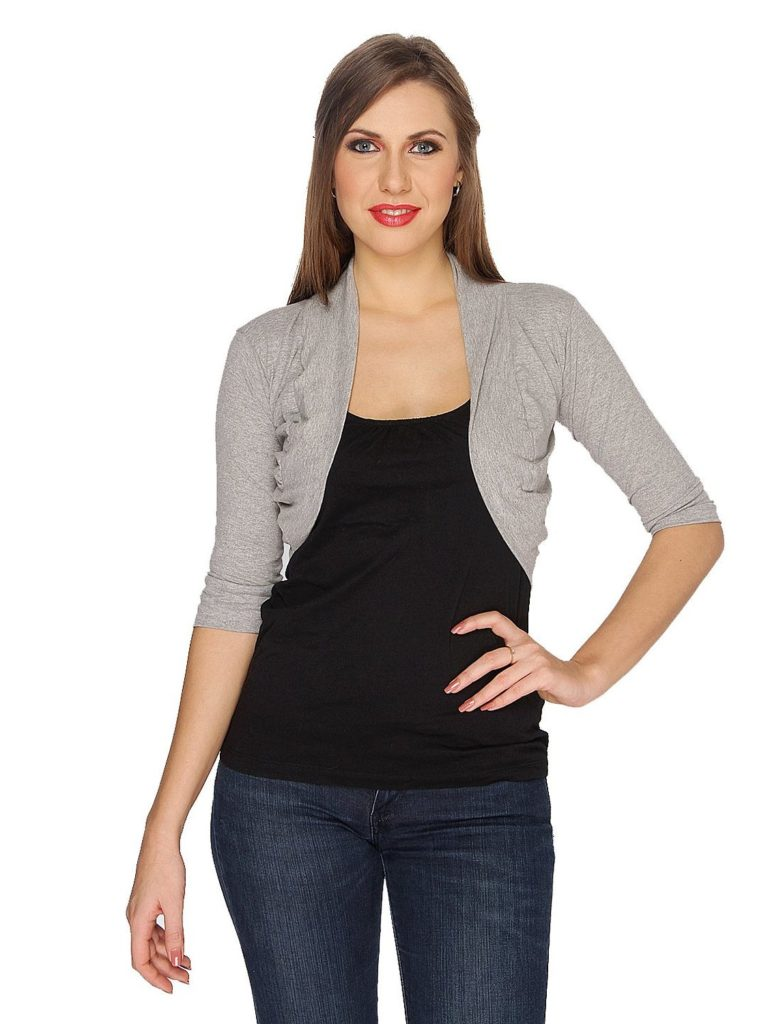 Ten on Ten Women's grey short shrug
