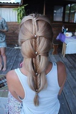 Waterfall braid style side bump