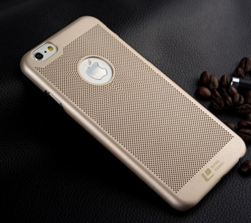 XMart Heat Dissipation Case Cover for iPhone 6 in Gold