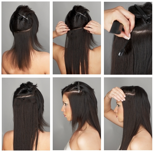 clip-in-hair-application