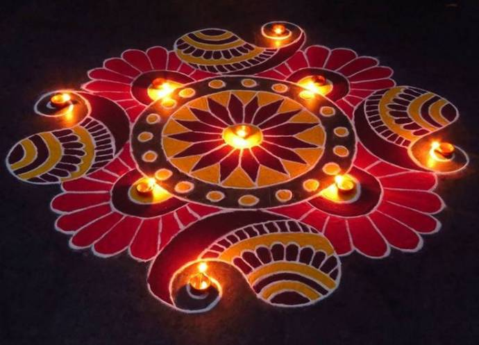 Most Colorful Rangoli Designs For Diwali Festival With Images Big Look More Complex But The Bigger You Can Spread A Space Get