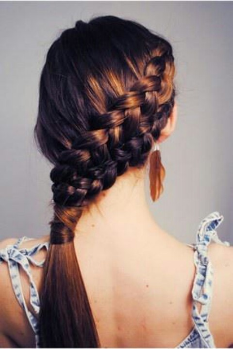 1. Fishtail-Braid-Hairstyles-for-Burgundy-Hair