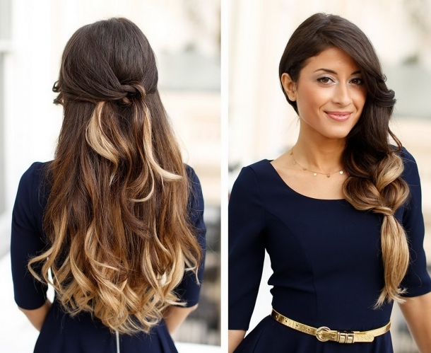Hair Highlights Styles: Easy Wavy Hairstyles With Golden Highlights