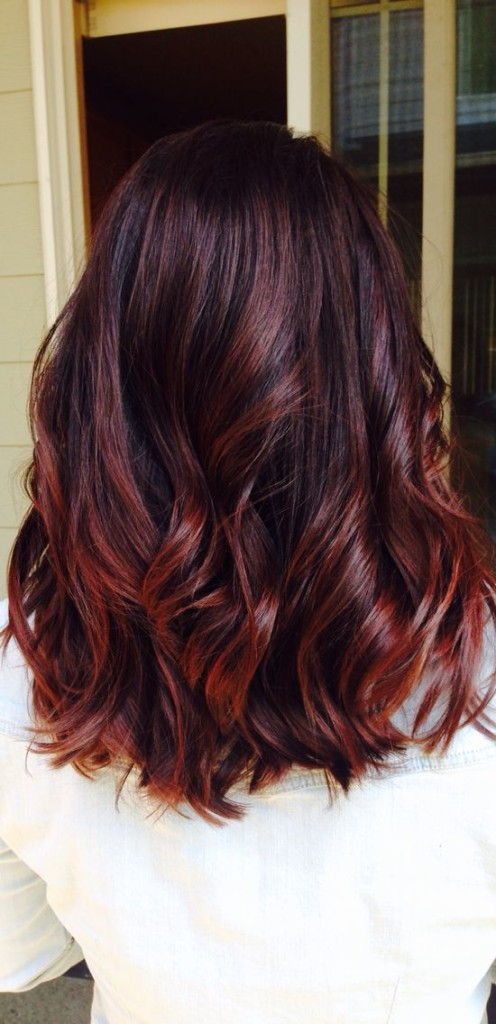 Luxury Red Violet Hair Color Dye