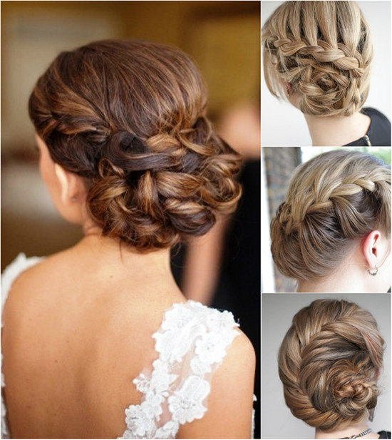 Excellent Easy Braided Bun Up Do Hairstyles Hairstyle Inspiration Daily Dogsangcom