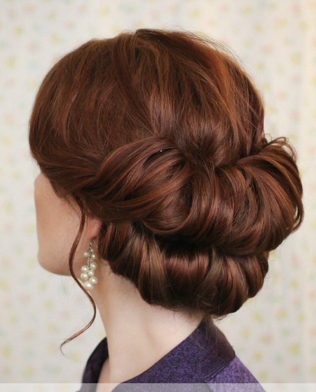 Braided double chignon