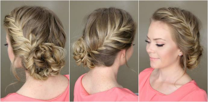 Fabulous Easy Braided Bun Up Do Hairstyles Short Hairstyles Gunalazisus
