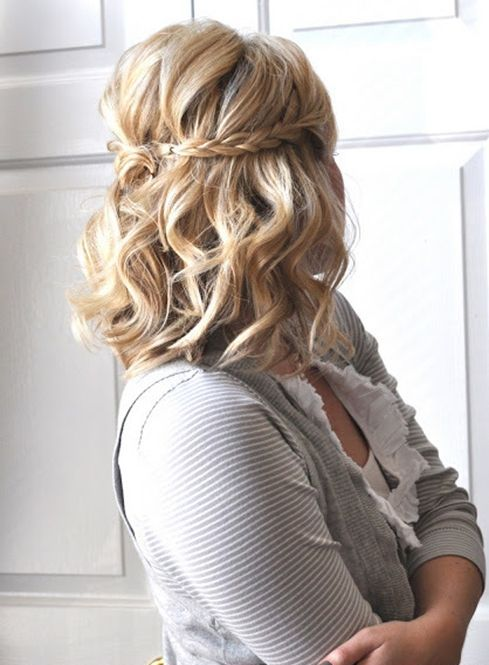 Double side-braid hairstyle for prom