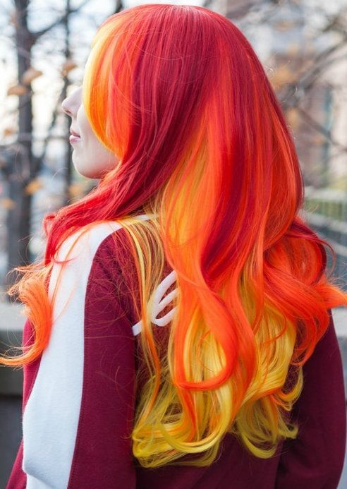 Experimental hair color ideas