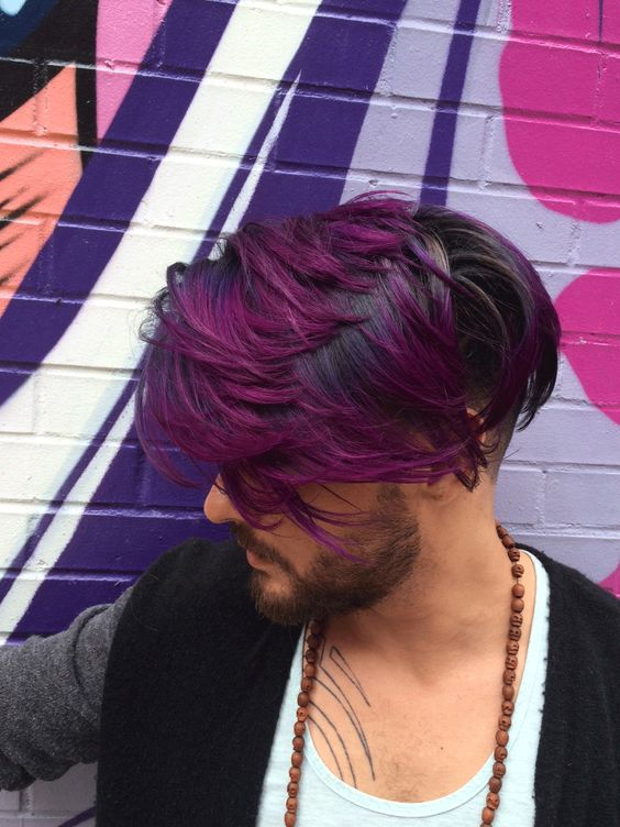 Fantasy color men hair