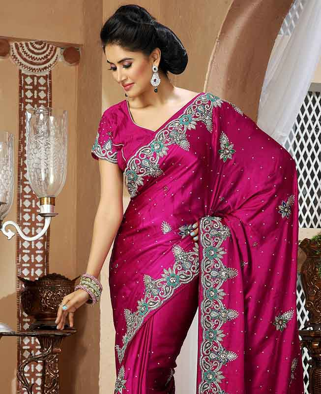 Easy simple hairstyles for silk saree