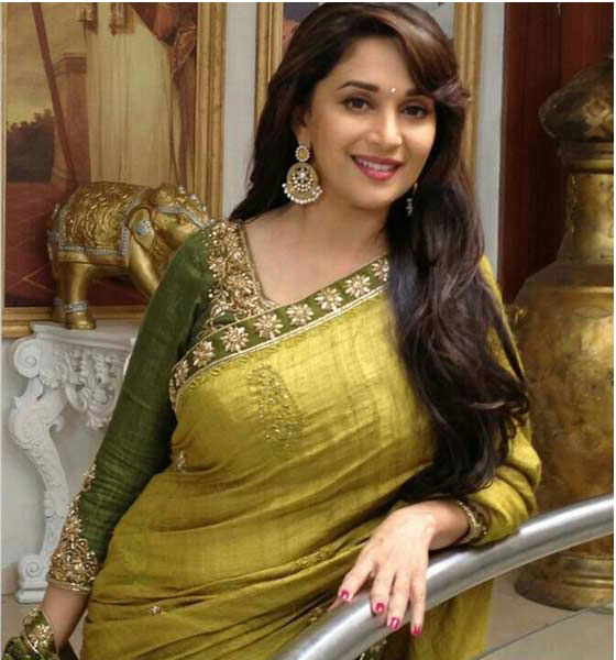 Madhuri-dixit-green-raw–sil