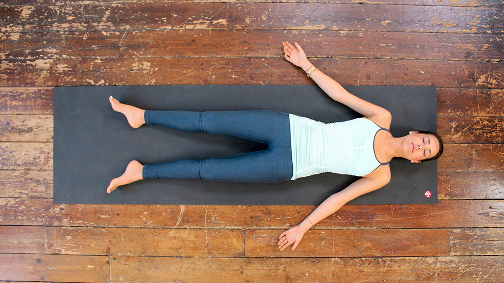 The corpse pose or Svanasana