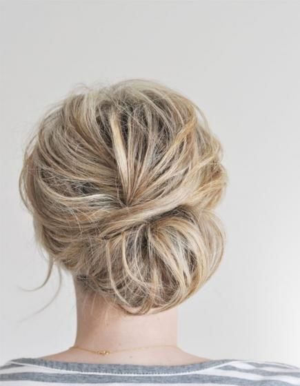 The messy chignon bun