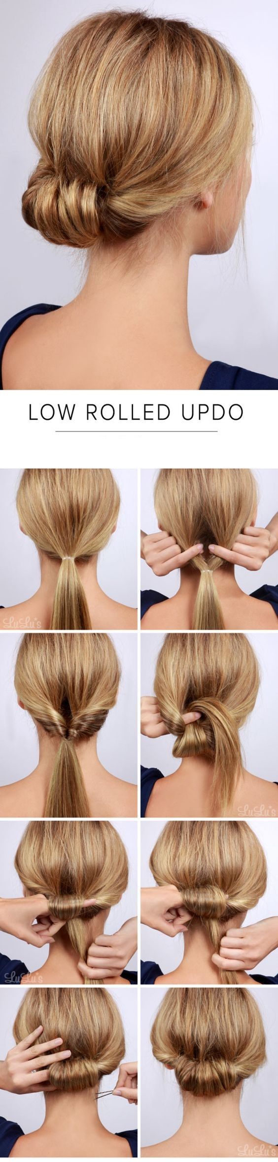 The neat chignon bun for proms