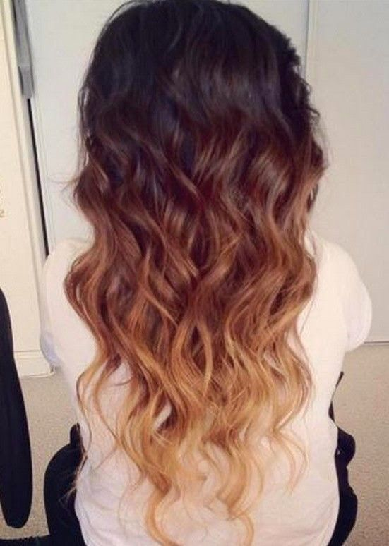 Three-shade brown ombre