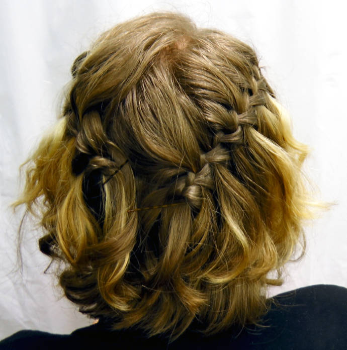 Waterfall Braid For Curly Hair Long Hairstyle With