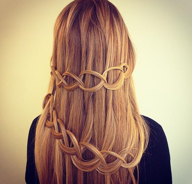 how to make simple waterfall braid