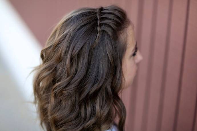 Hairstyles For Short Hair Double Crown : Waterfall braid hair styles