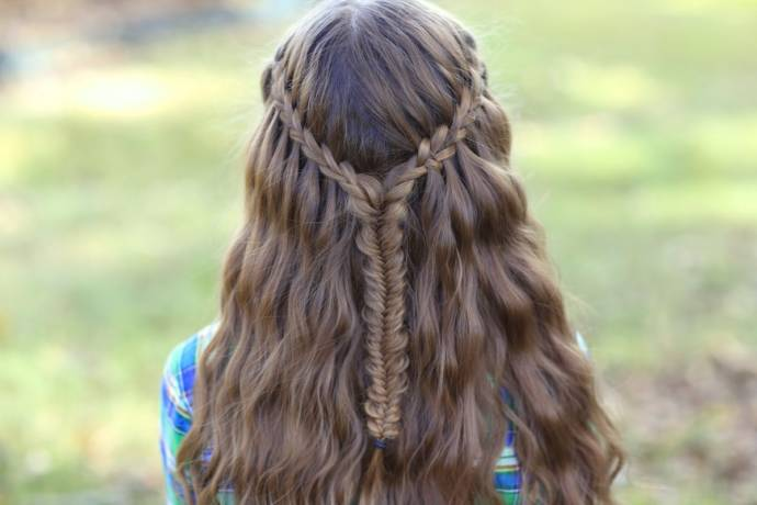 Waterfall braidhairstyle #14