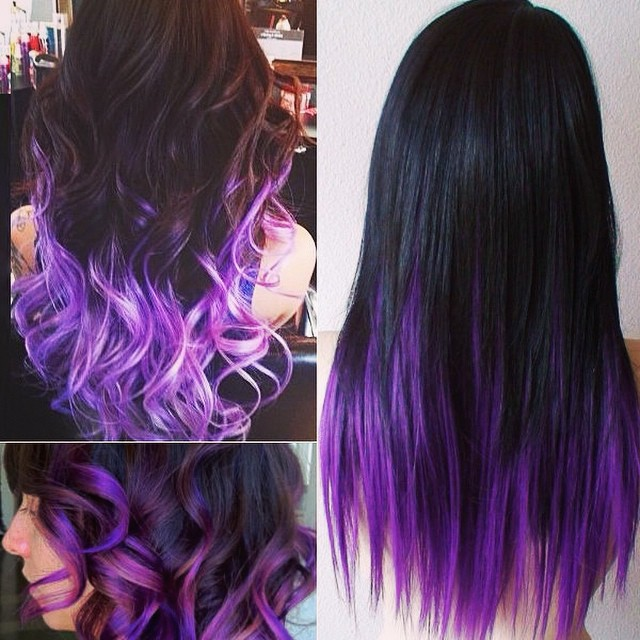 black-to-purple-hair-color-in-straight-or-wavy-styles-for-2014-fall-looks
