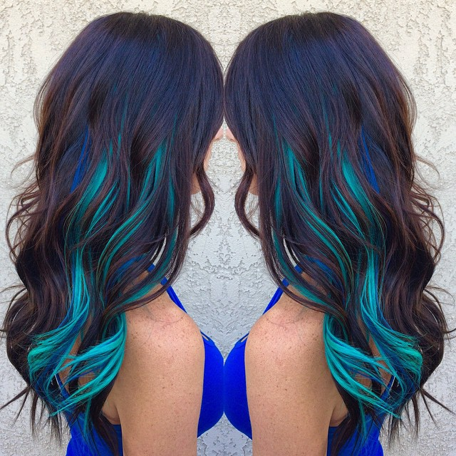 brown-hair-color-with-blue-and-turquoise-locks