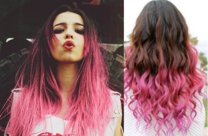 hair-extensions-hair-pieces-hair-pieces-clip-on-Ombre-Black-Pink-Synthetic-hair-5-clips