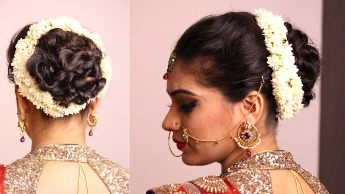 Simple Hair Buns For Saree
