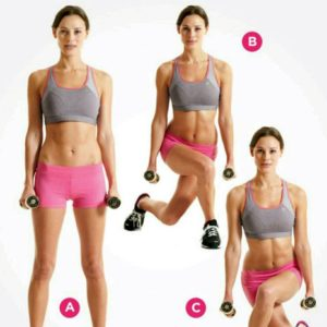 Dumbbell curtsy lunge