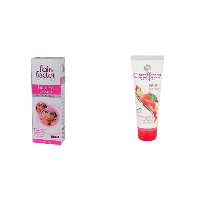 1. Clear face fairness cream and face wash