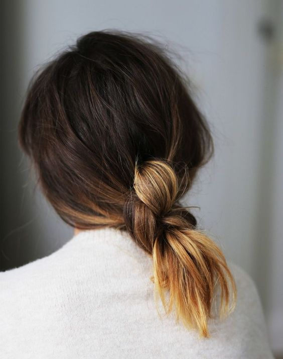 Back double knot bun