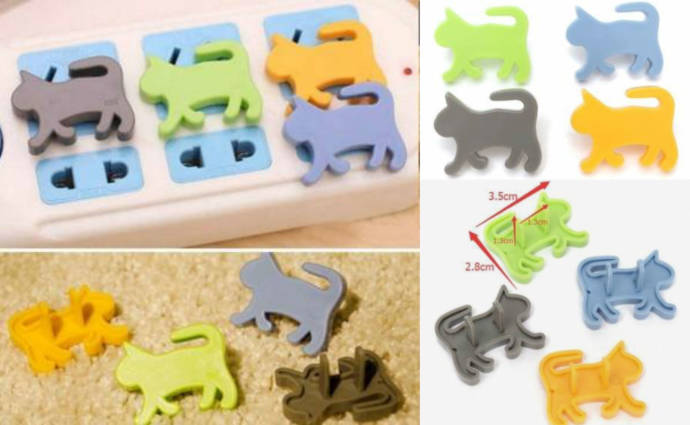 Child Proof Cute Animal Safety Electric Outlet Plug Protector