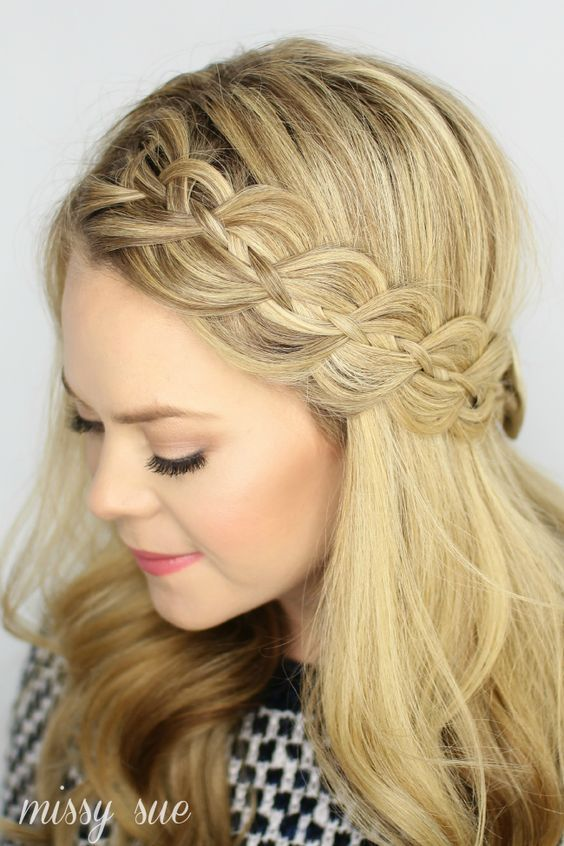 Crown braided everyday hairstyle for office