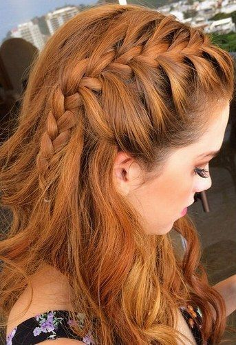 Crown braided open hairstyle