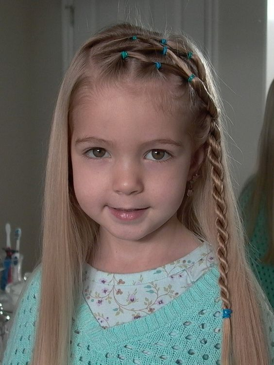 Front waterfall braids with bands