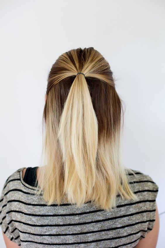 High pony-tail half open hairstyle