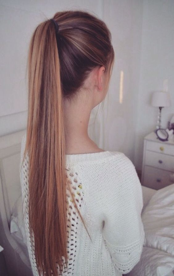 High Single Pony Tail