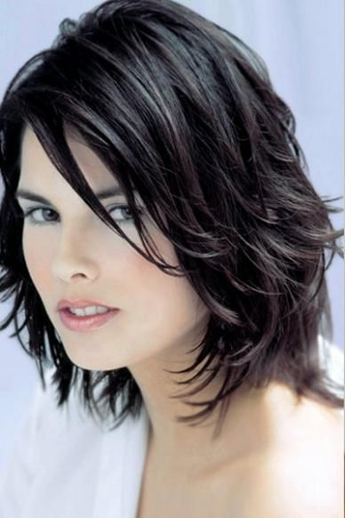 Layered Wavy Hairstyles For Oval Faces Long Medium