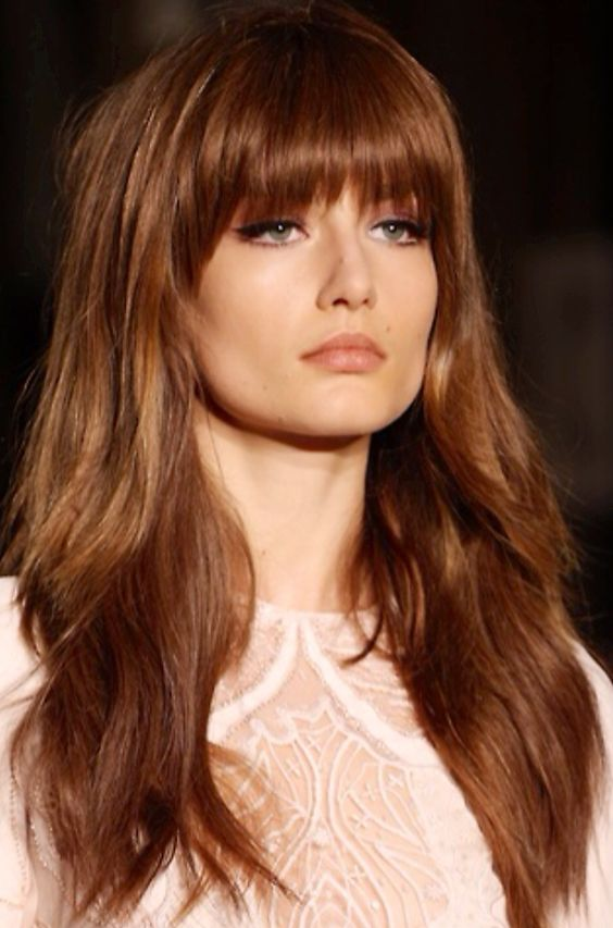Layers with front bangs