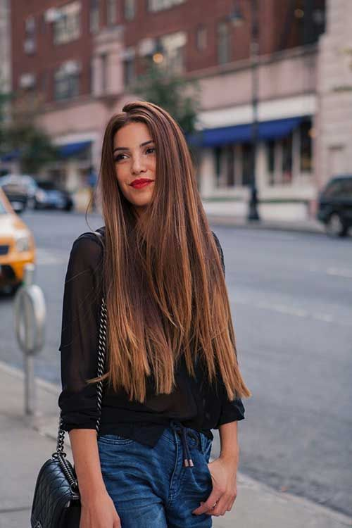 Long hairstyles that you should try in winter. Best winter elegant ...