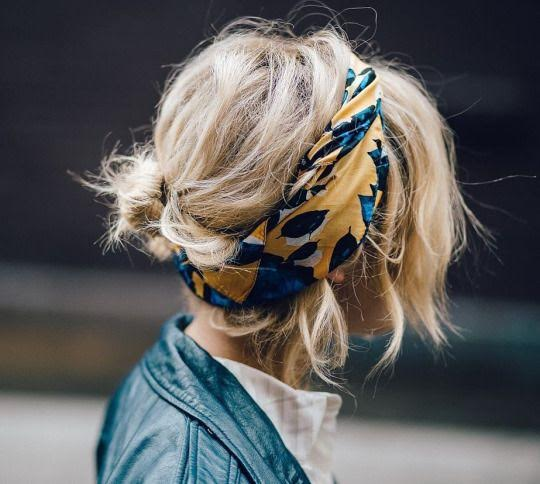 messy-hairstyle-with-colorful-scarf