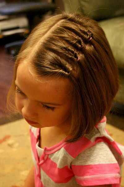 Multiple side waterfall braid for short hairs