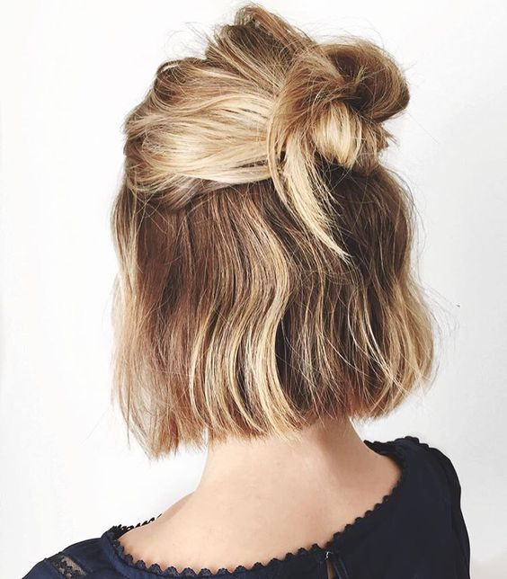 Quick top knot for short hairs