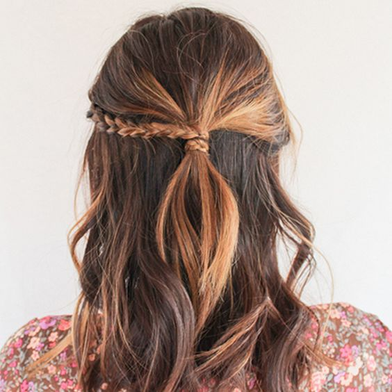 Side braided wrapped up hairstyle