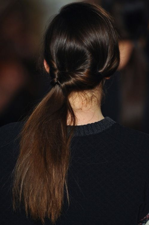 Side topsy ponytail