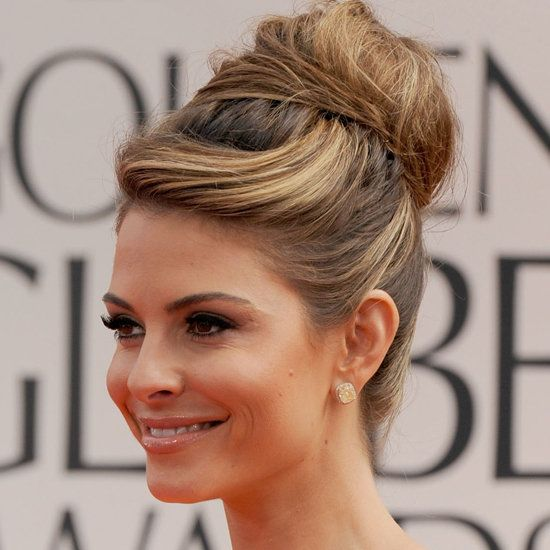 Top knot for making your face look slimmer