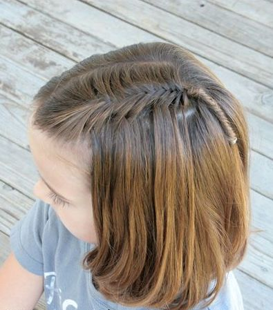 Waterfall braiding with fishbone plait