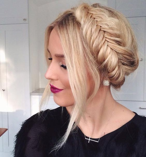 Wrapped Up Mermaid Braid Hairstyle For Work